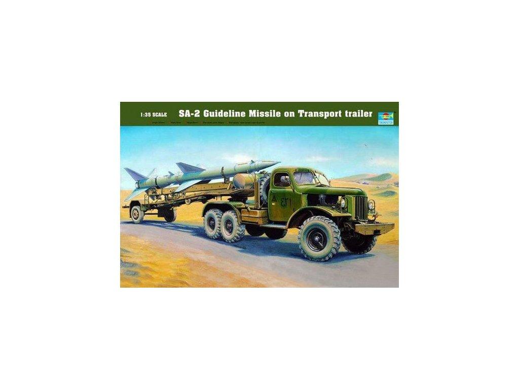 SA-2 Guideline Missile on Transport trailer 1:35