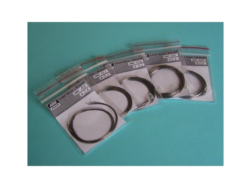 Olovený drôt plochý 0,2x1,0mm / 9ks