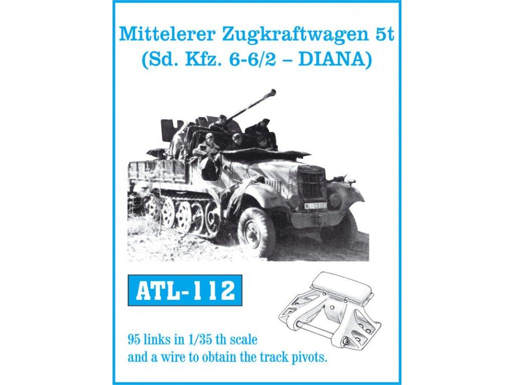 Kov. pásy Mitteleler Zugkraftwagen 5t ( Sd. Kfz. 6-6/2 - DIANA) 1:35
