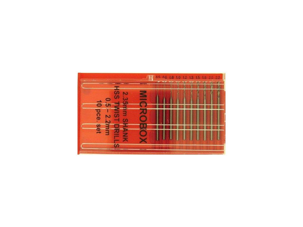 PDR4005 Vrtáky set 0,5-2,2mm 10ks