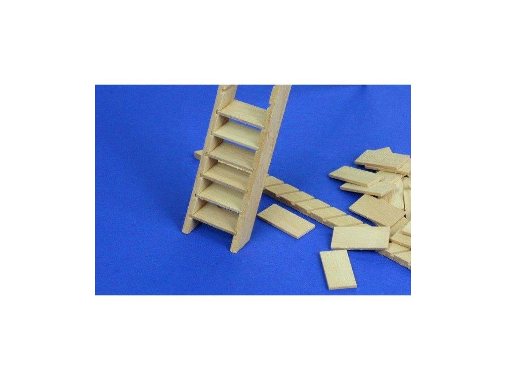 Wooden stairs / drevené schody šírka 32mm (2ks) 1:35