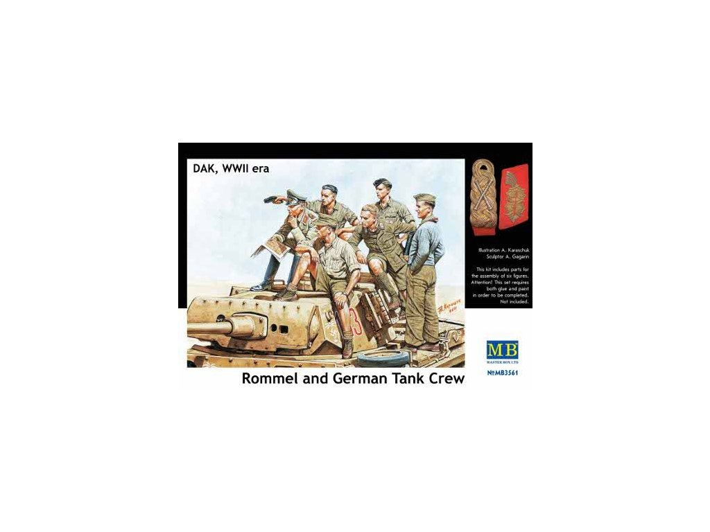 Rommel and German Tank Crew 1:35