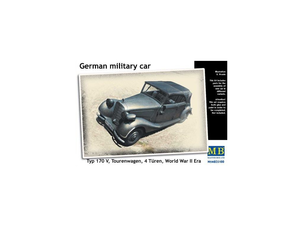 German military car,Typ 170V,Tourenwagen,4 Turen,1937-1940 1:35