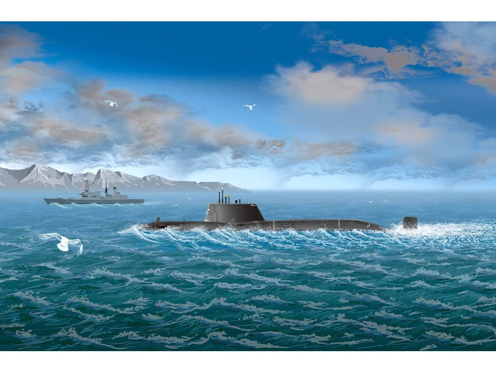 HMS Astute 1:700