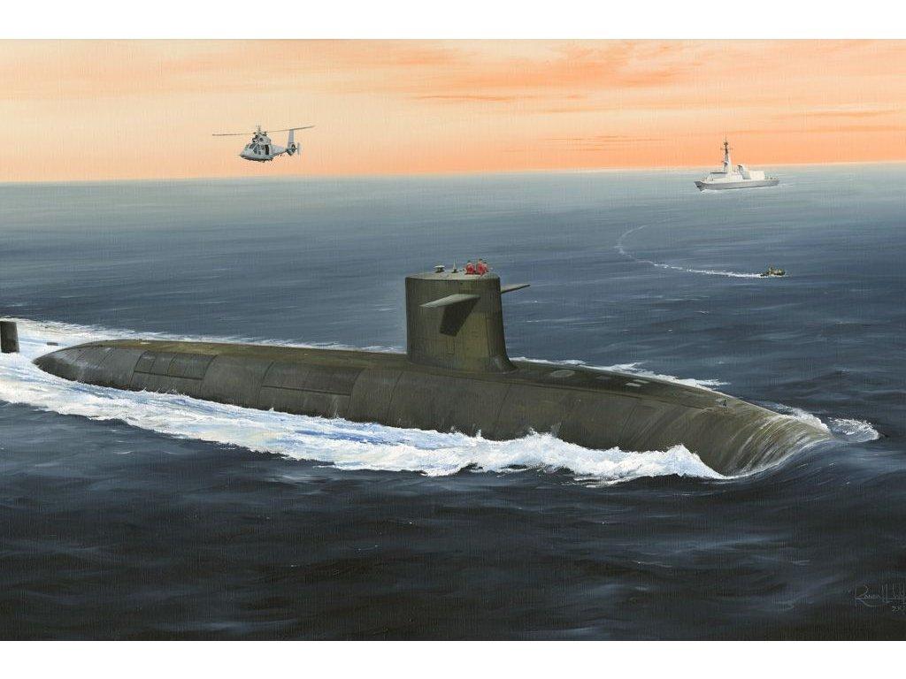 French Navy Le Triompohant SSBN 1:350