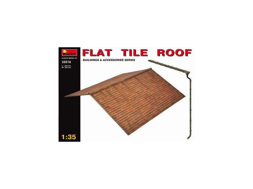 Strecha budovy a odkvap / Flat Tile Roof 1:35