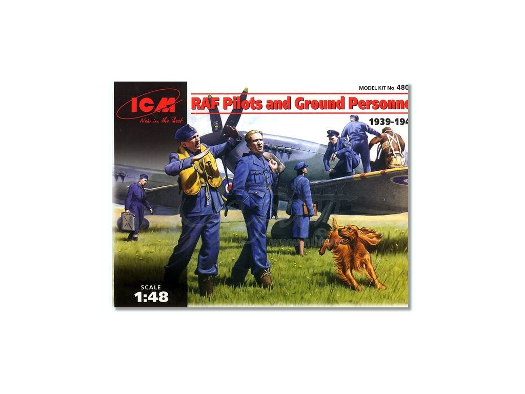 Piloti a pozemný personál RAF 1:48