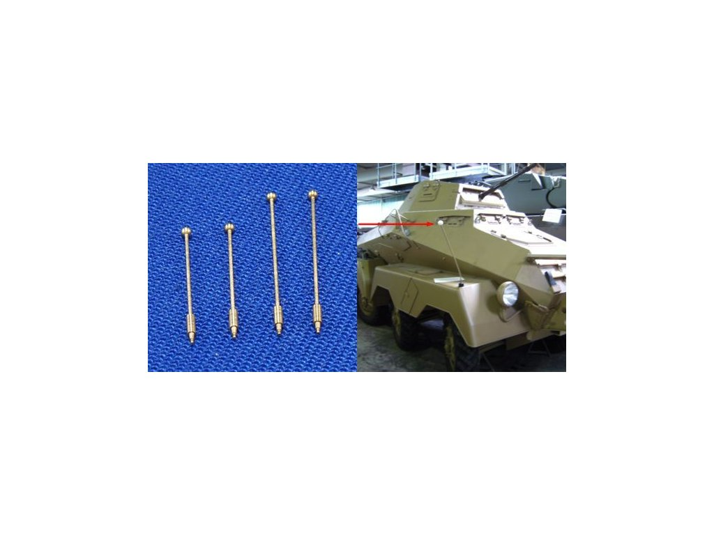 Outline marker / obrysové značky 2 x 13,8mm & 2 x 17,9mm pre rôzne typy vojenských vozidiel 1:35