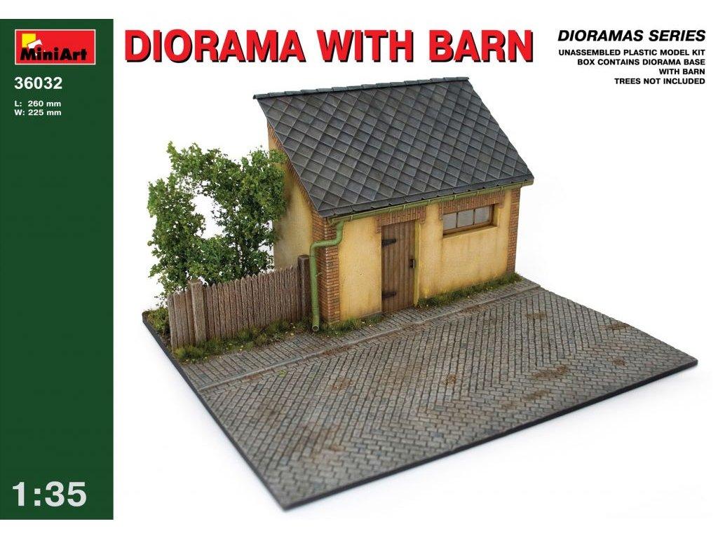 Dioráma s maštaľou - Diorama with Barn 1:35