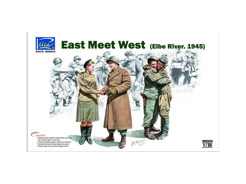 East Meet West (Elbe River 1945) 1:35