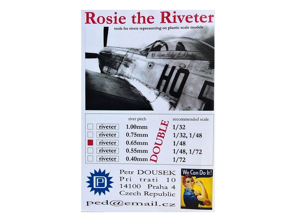 Nitovadlo Rosie the Riveter 0.65mm DOUBLE (1/48)