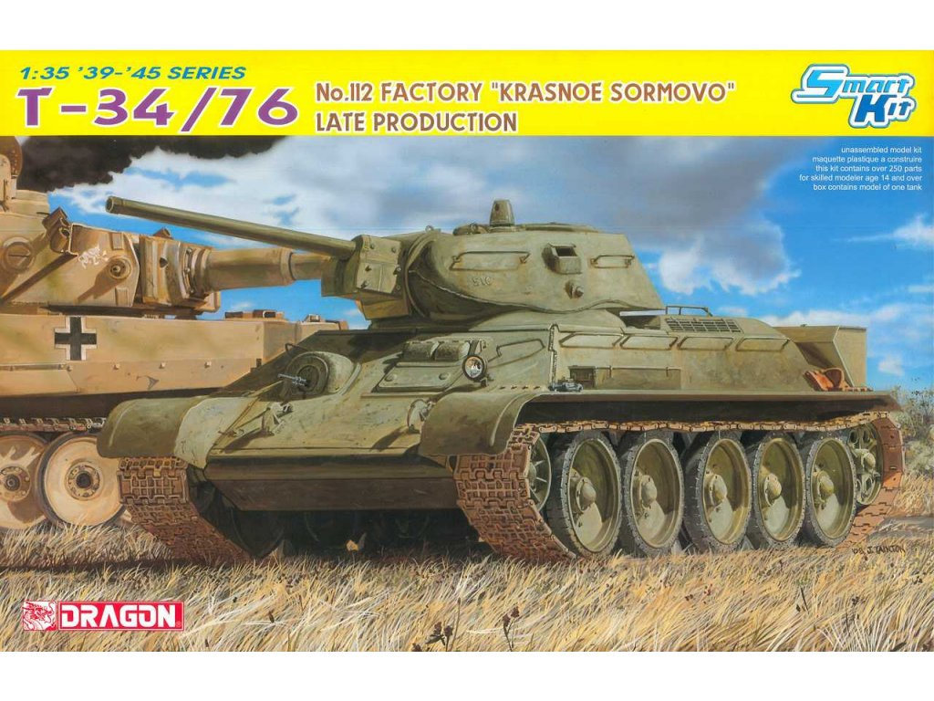 Model Kit tank 6479 T 34 76 No 112 FACTORY KRASNOE SORMOVO LATE PRODUCTION SMART KIT 1 35 a64296748 10374