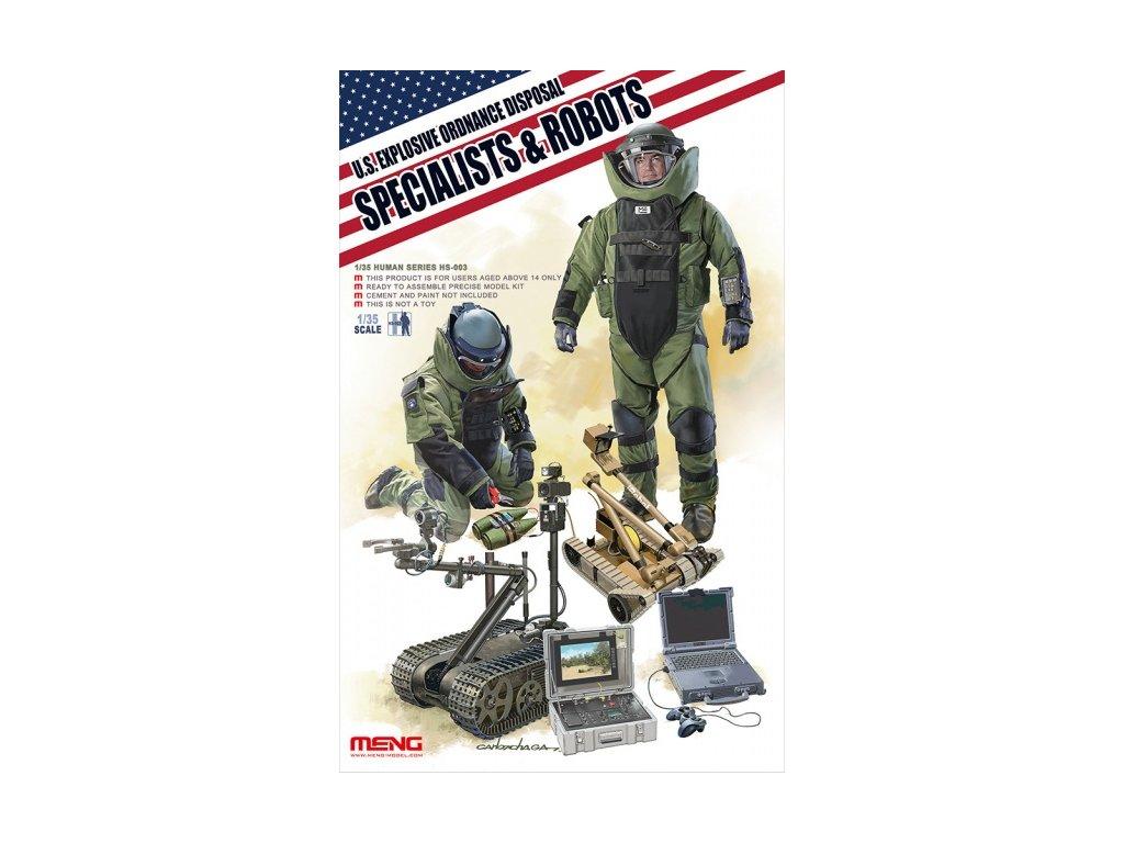 U.S. Explosive Ordnance Disposal Specialist & Robots 1:35