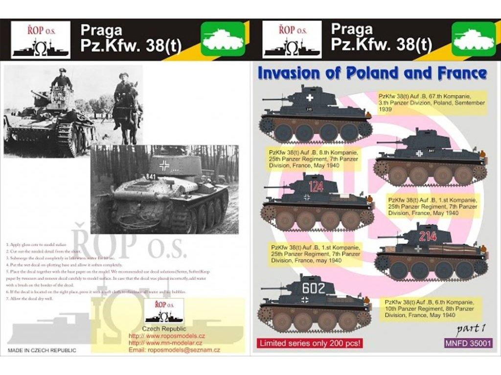 Pz.Kpfw.38(t) Praga Invasion of France and Poland 1:35 1:35