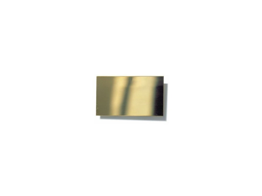 Mosadzný plech  0,1 x 200 x 300 mm