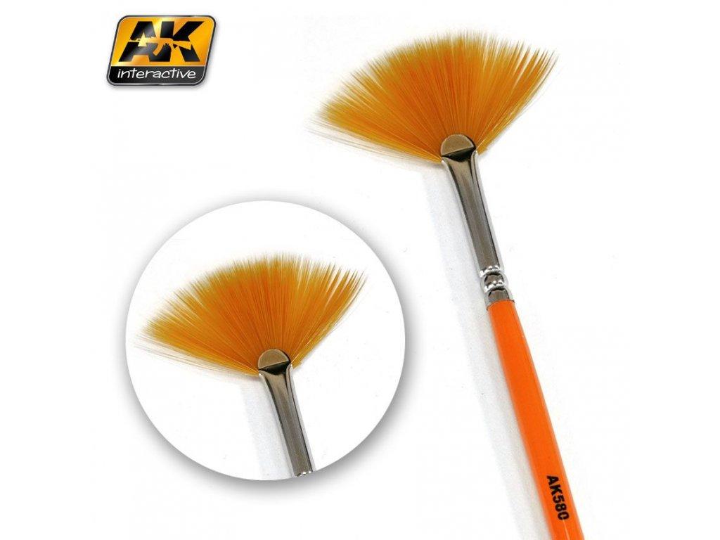 Fan Shape Weathering Brush