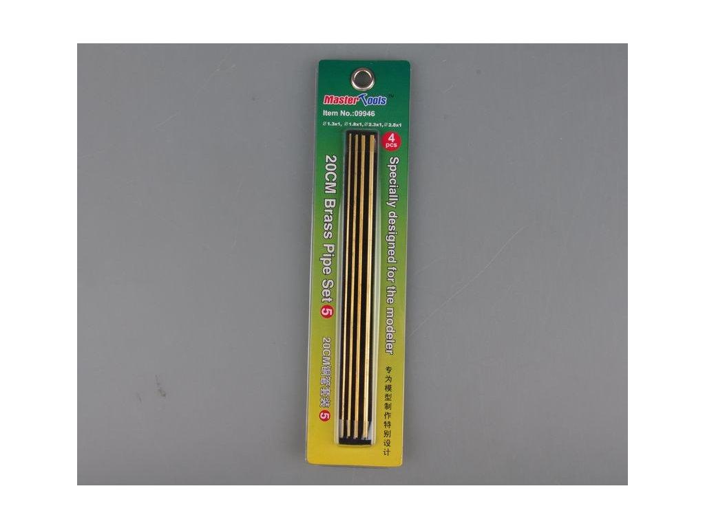 Mosadzné rúrky 20cm Set 5