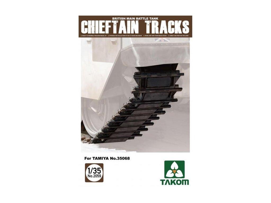 Článkové pásy pre Tank Chieftain 1:35