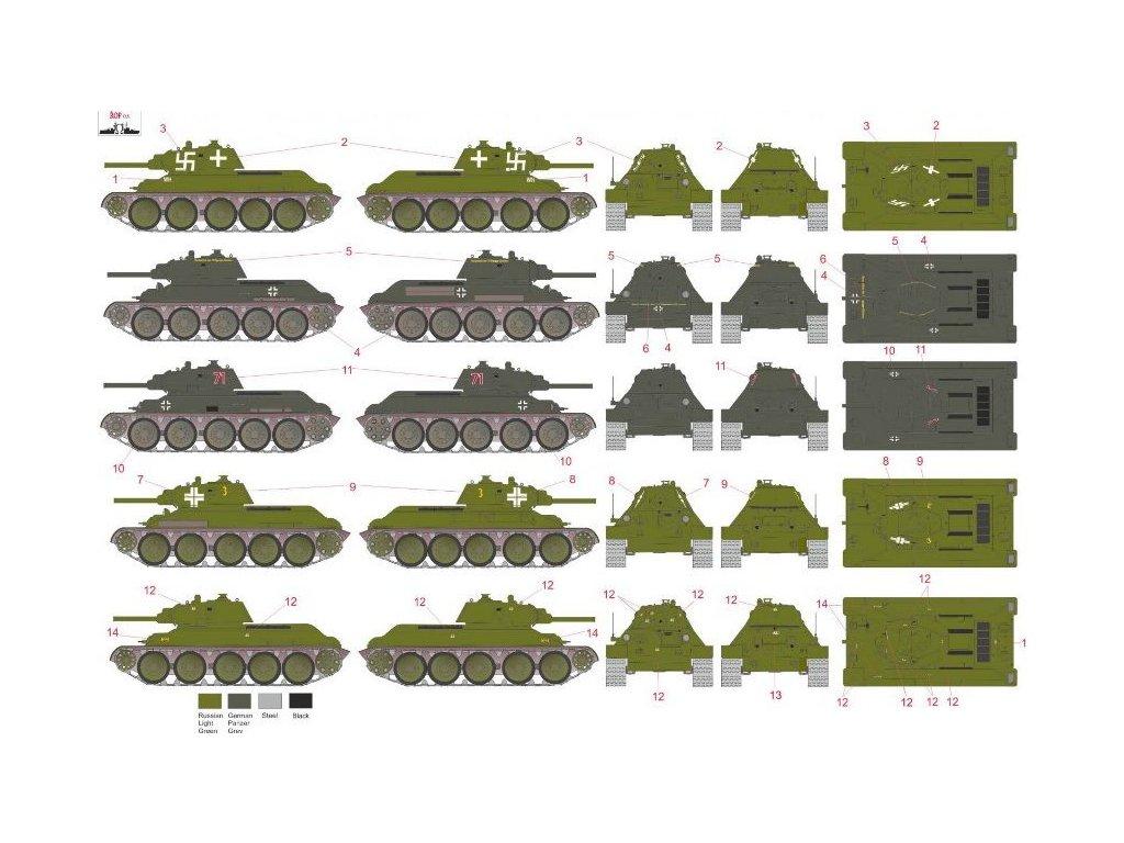 Obtlačky pre German captured T-34 (part 1) 1:72