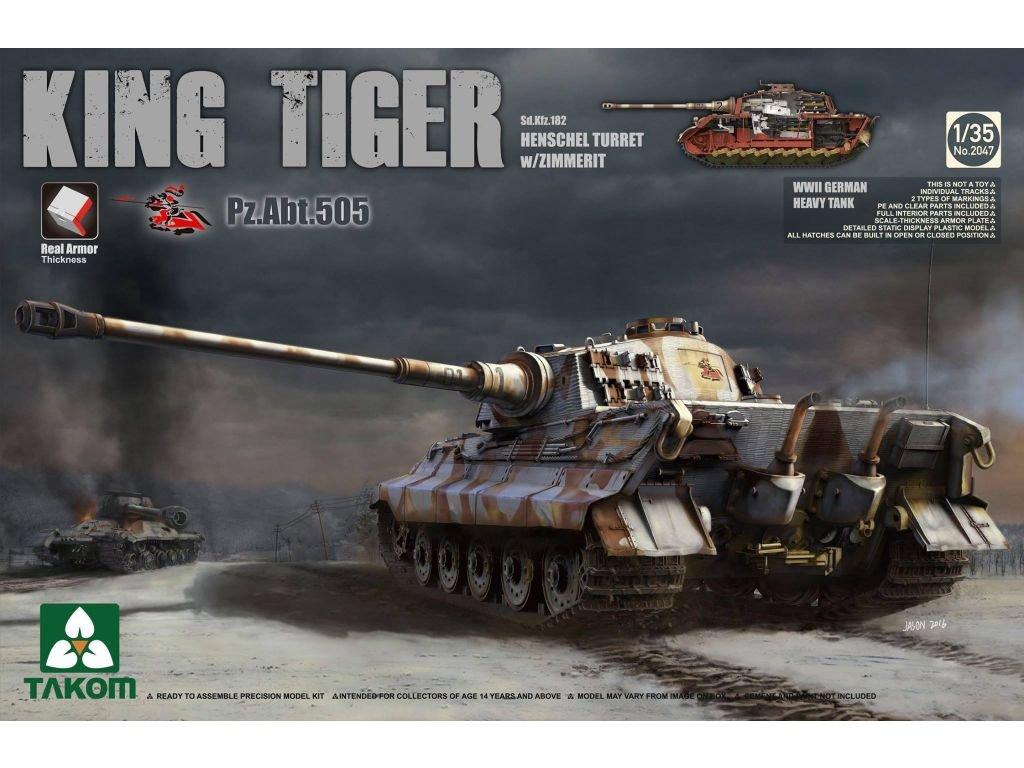 Sd.Kfz.182 King Tiger Henschel Turret w/Zimmerit [Pz.Abt.505] 1:35