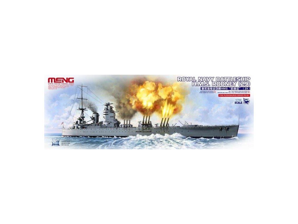 Royal Navy Battleship H.M.S.Rodney (29) 1:700
