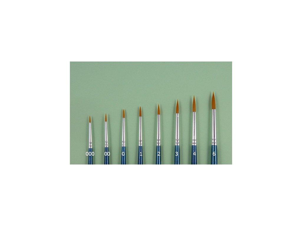 Syntetický štetec - guľatý (0)