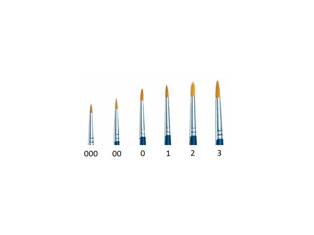 Syntetický štetec - guľatý (0) (samostatne balený)