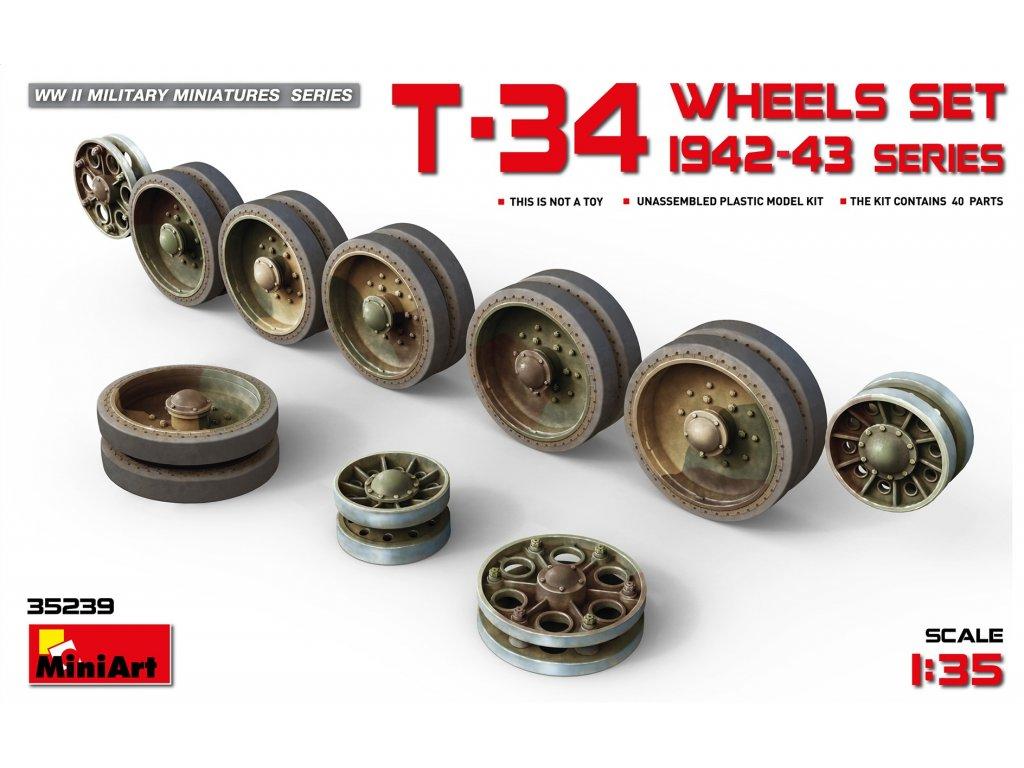 Kolesá pre T-34 .1942-43 1:35