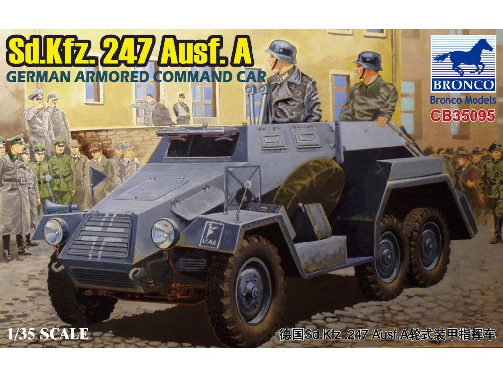 Sd.Kfz.247 Ausf.A.German Armored Command Car 1:35