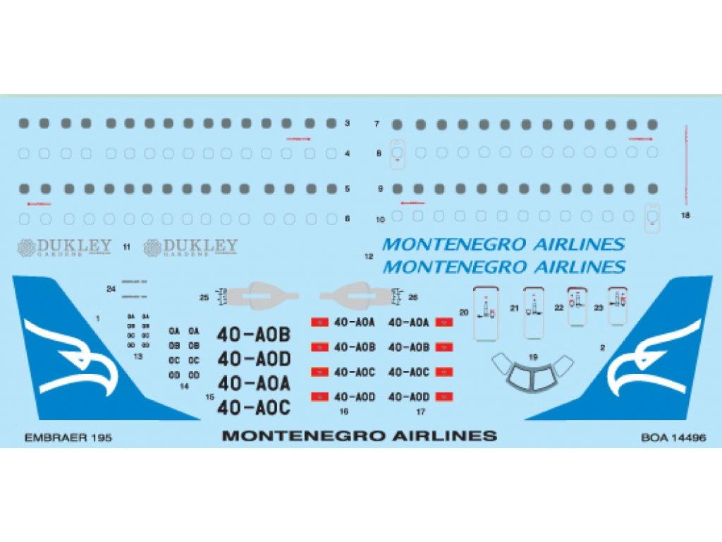 Embraer ERJ-195 Montenegro (Revell) 1:144