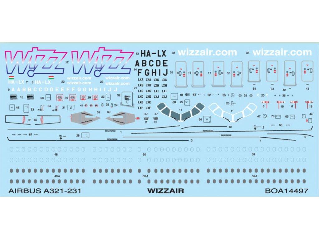 Airbus A321 WIZZAIR (Zvezda) 1:144