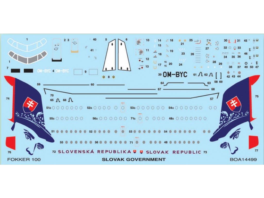 Fokker 100 Slovak Government (Revell) 1:144