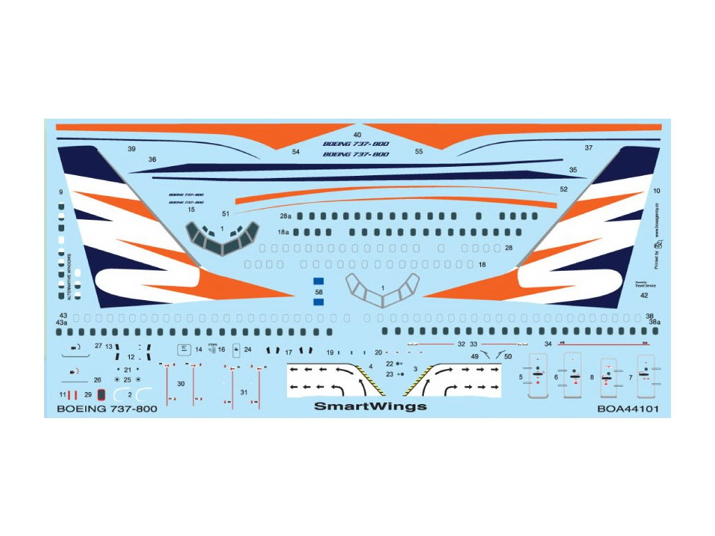 Boeing 737-800 SmartWings (Revell) 1:144