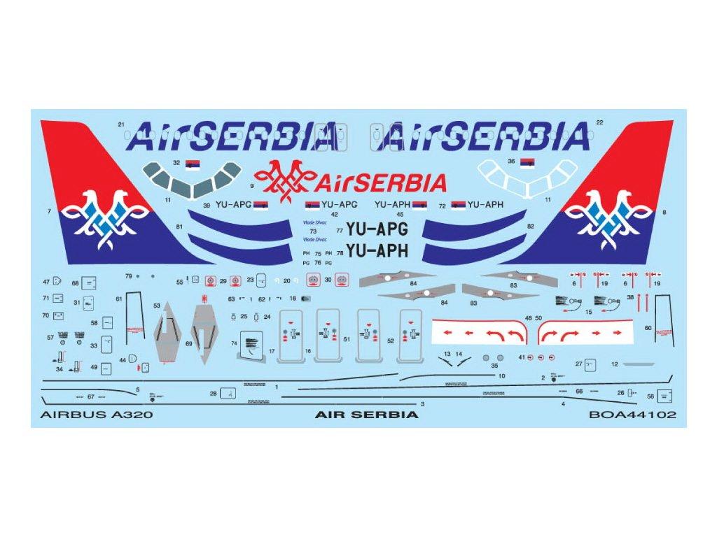 Airbus A320 Air Serbia (Zvezda, Revell) 1:144