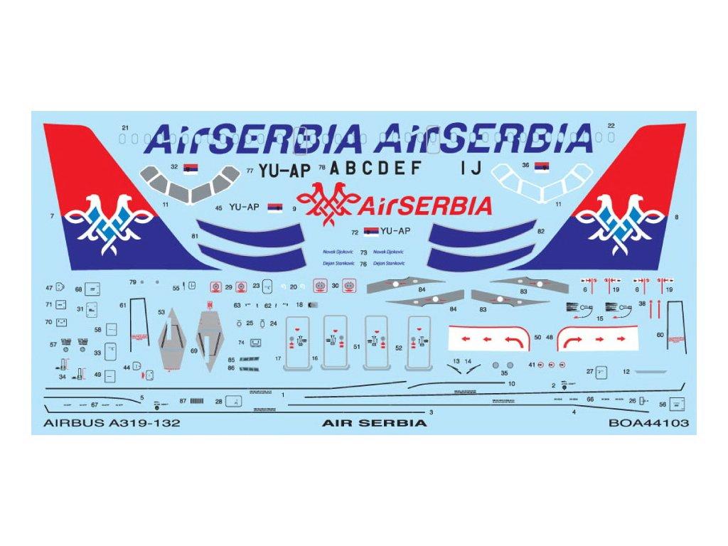 Airbus A319 Air Serbia (Revell) 1:144
