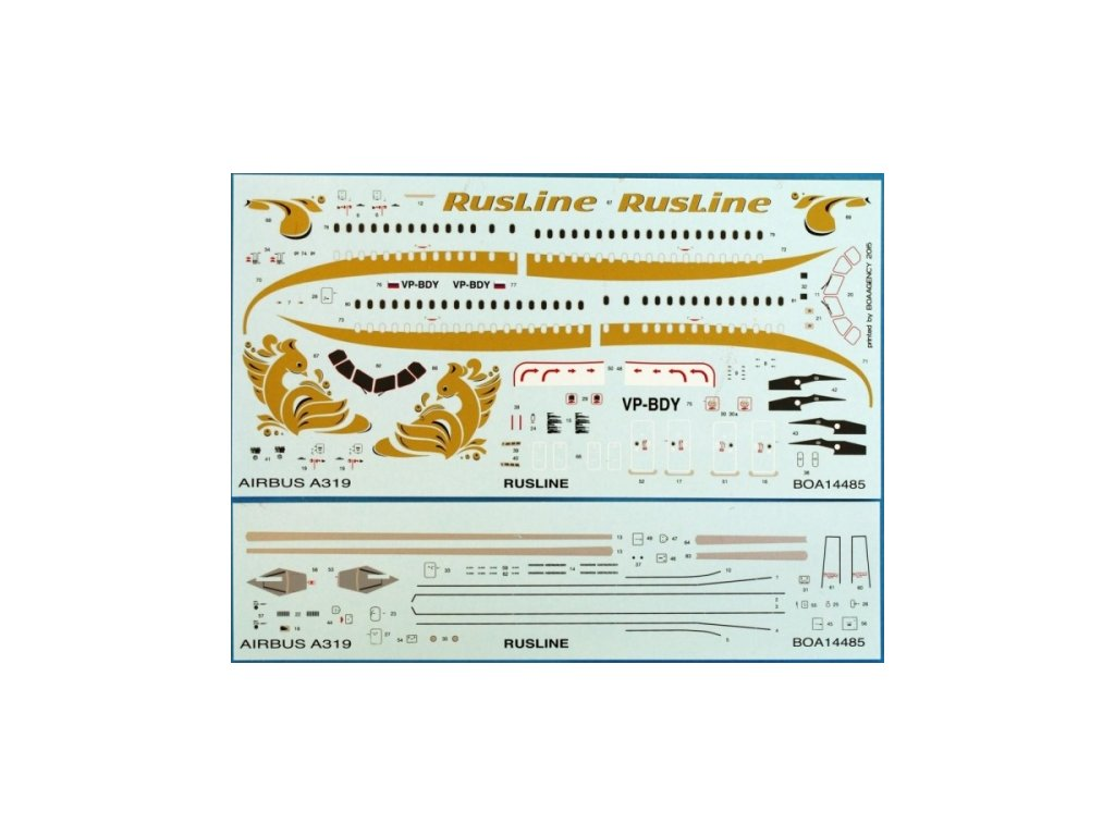 Airbus A319 Rusline (Revell) 1:144