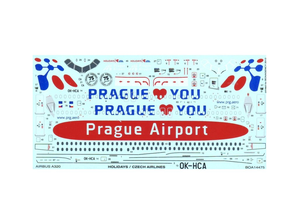 Airbus A320 Holiday Czech Airlines (Revell)