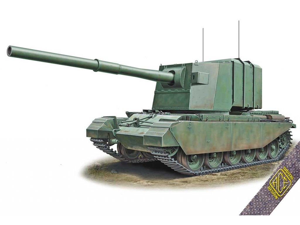 """FV4005""""IS-killer""""183mm on Centurion hull 1:72"""
