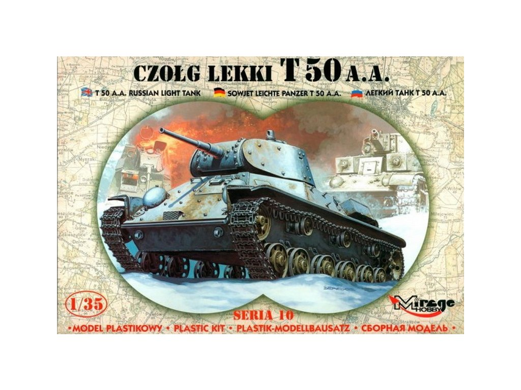 T-50 AA Russian Light Tank 1:35