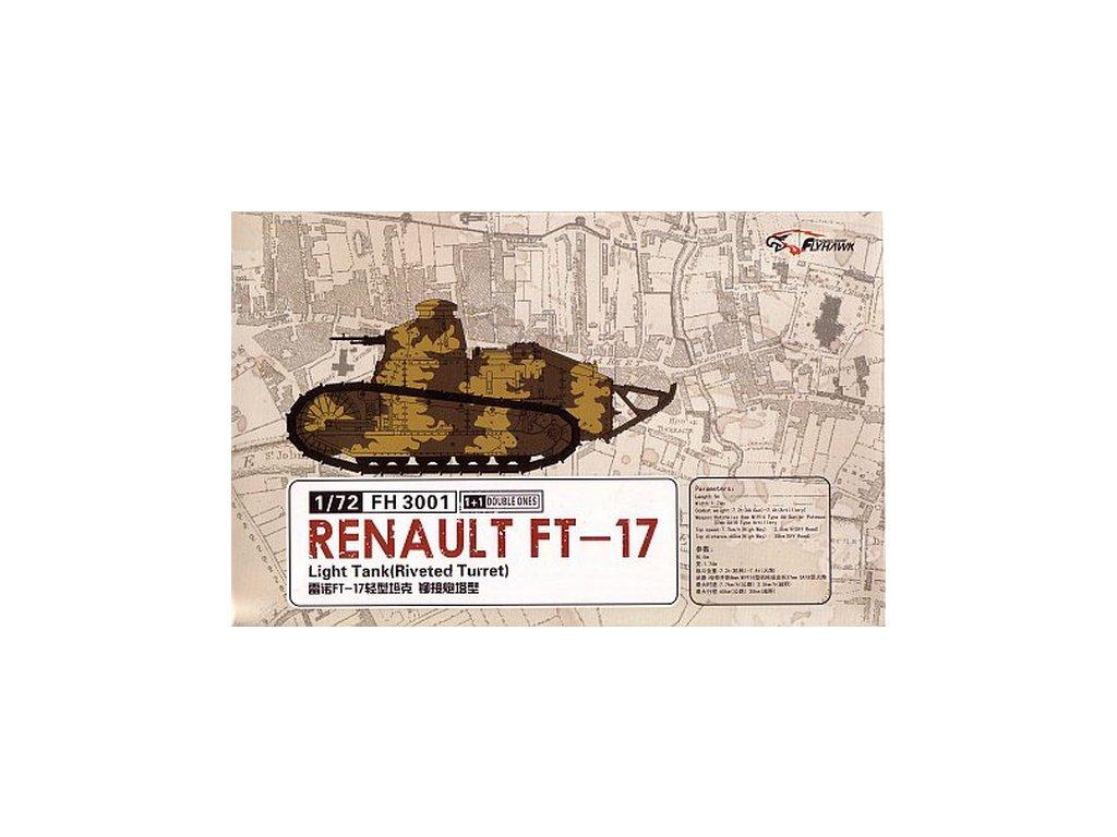 Renault FT-17 light tank (Riveted turret) 2 pcs 1:72