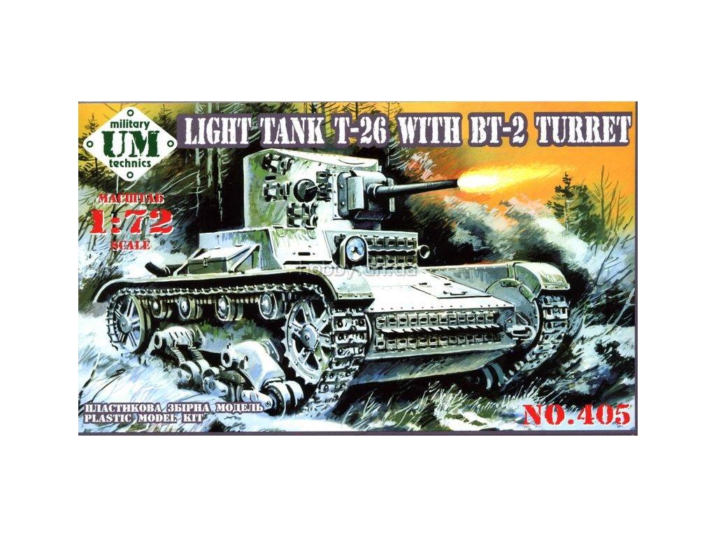 Light Tank T-26 / BT-2 1:72