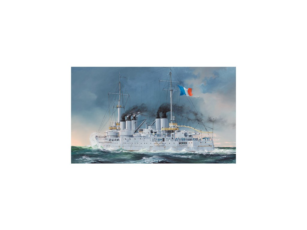 French Navy Pre-Dreadnought Battleship Condorcet 1:350