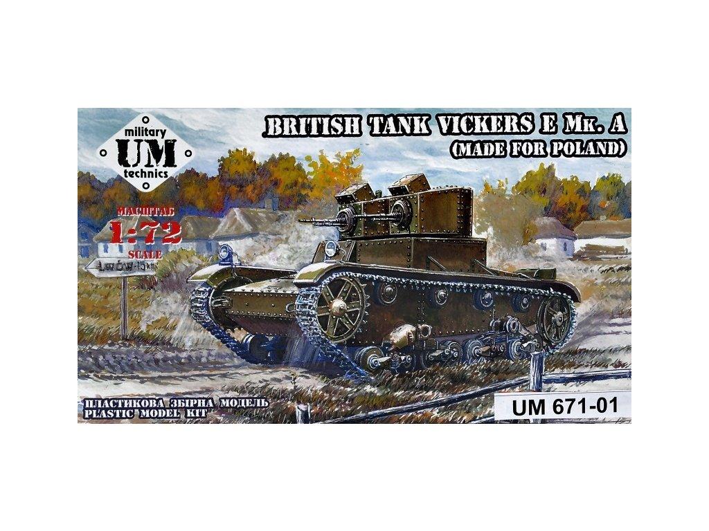 Vickers E Mk.A.-Poland (plastic tracks) 1:72