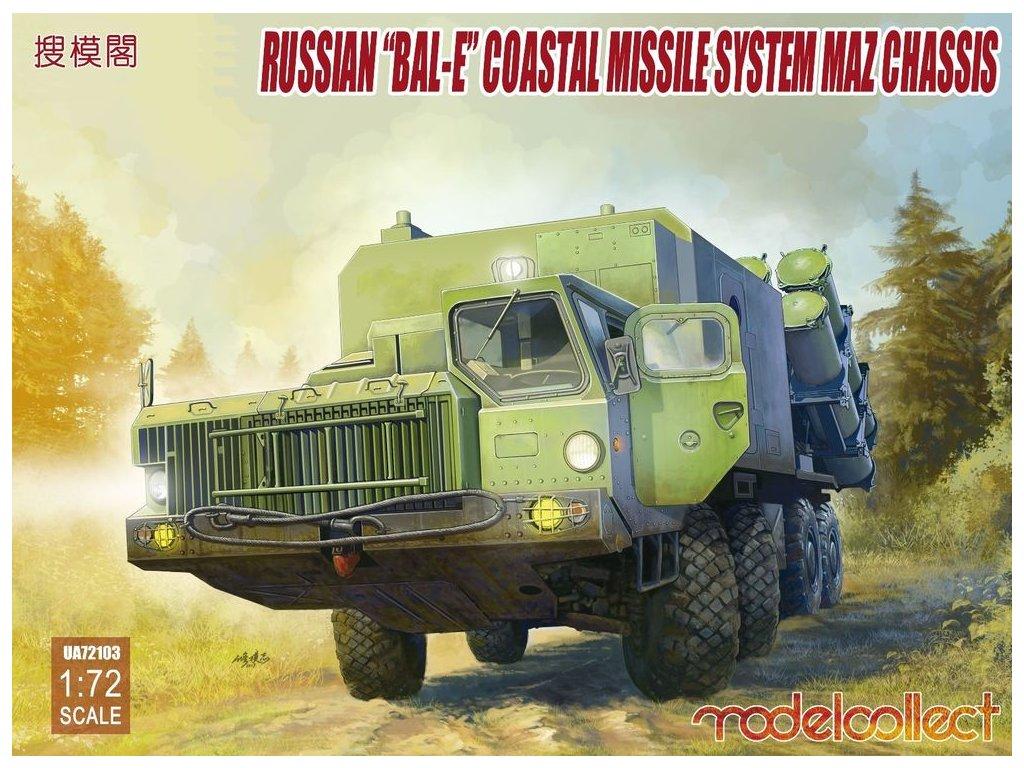 "Russian""Bal-E""mobile coastal defense missila luncher w.Kh-35 anti-ship cruise 1:72"