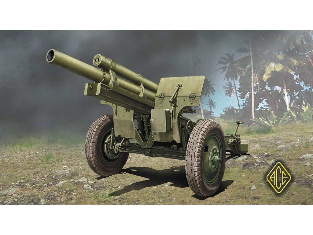 US 105mm Howitzer M2A1 w/M2 gun carriage 1/72
