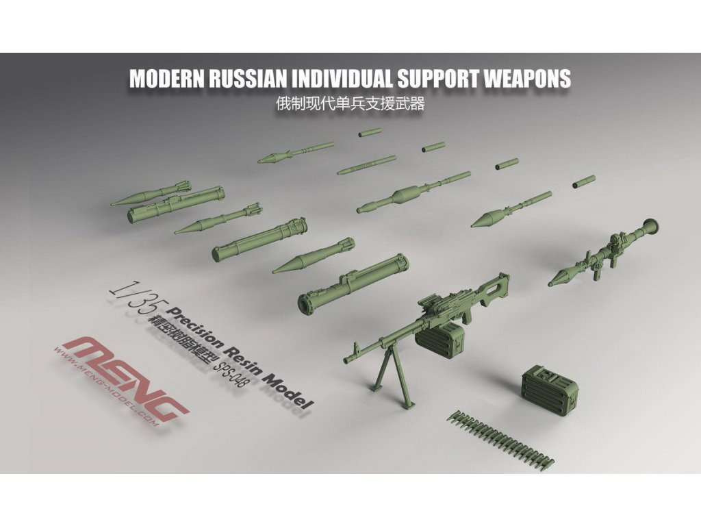 Modern Russian Individual Support Weapons (Resin) 1:35