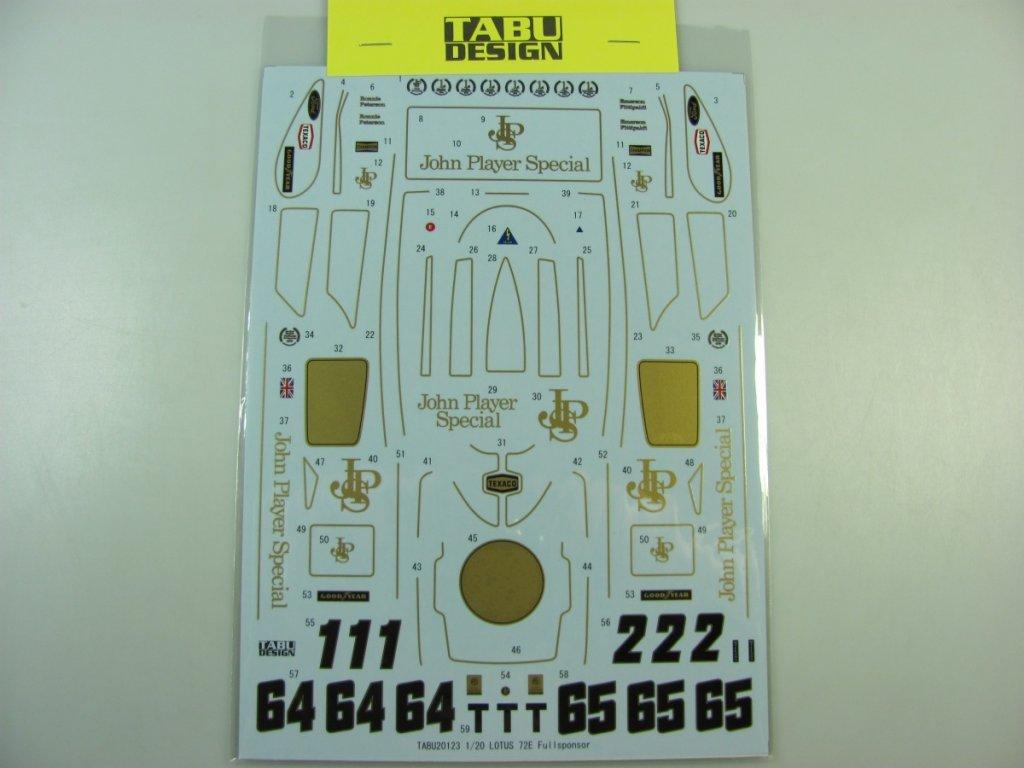 Lotus 72E Full Sponsor 1:20