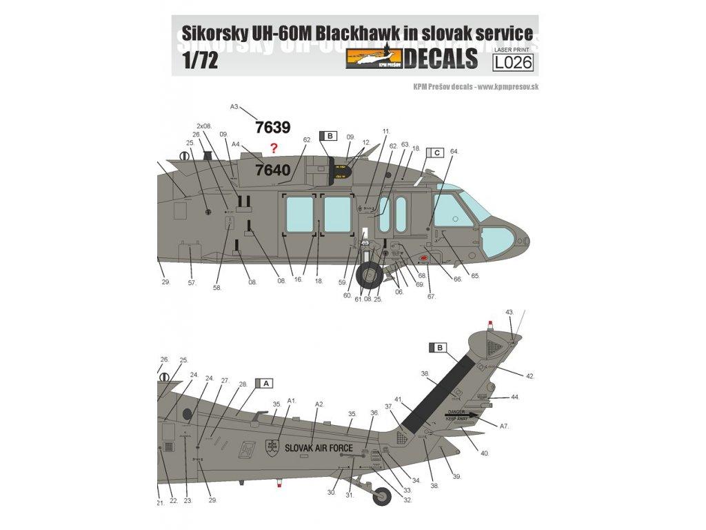 Sikorsky UH-60M Black Hawk in Slovak Service 1:72