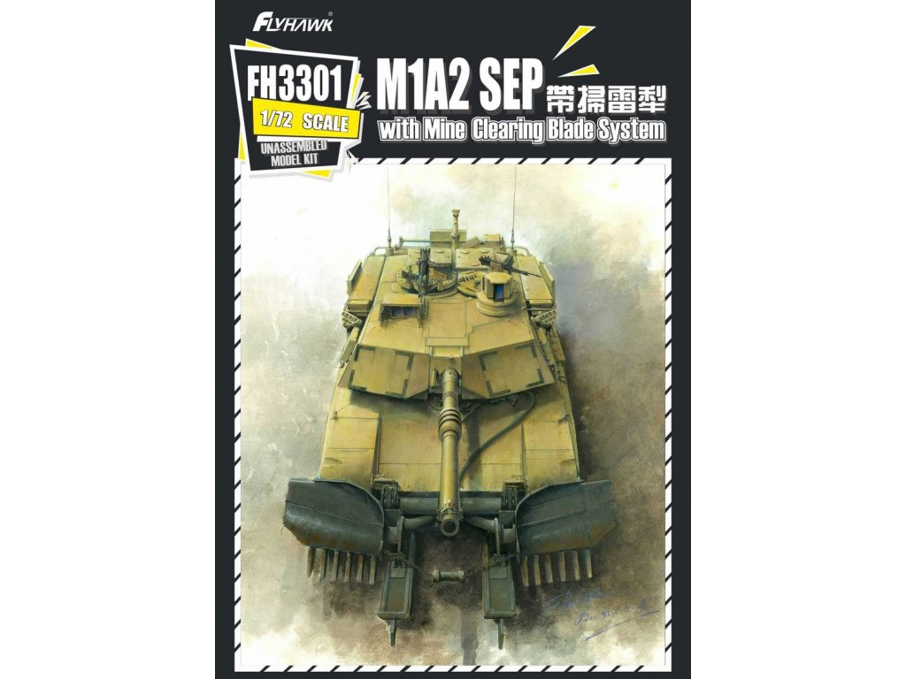 M1A2 SEP with Mine Clearing Blade System 1:72