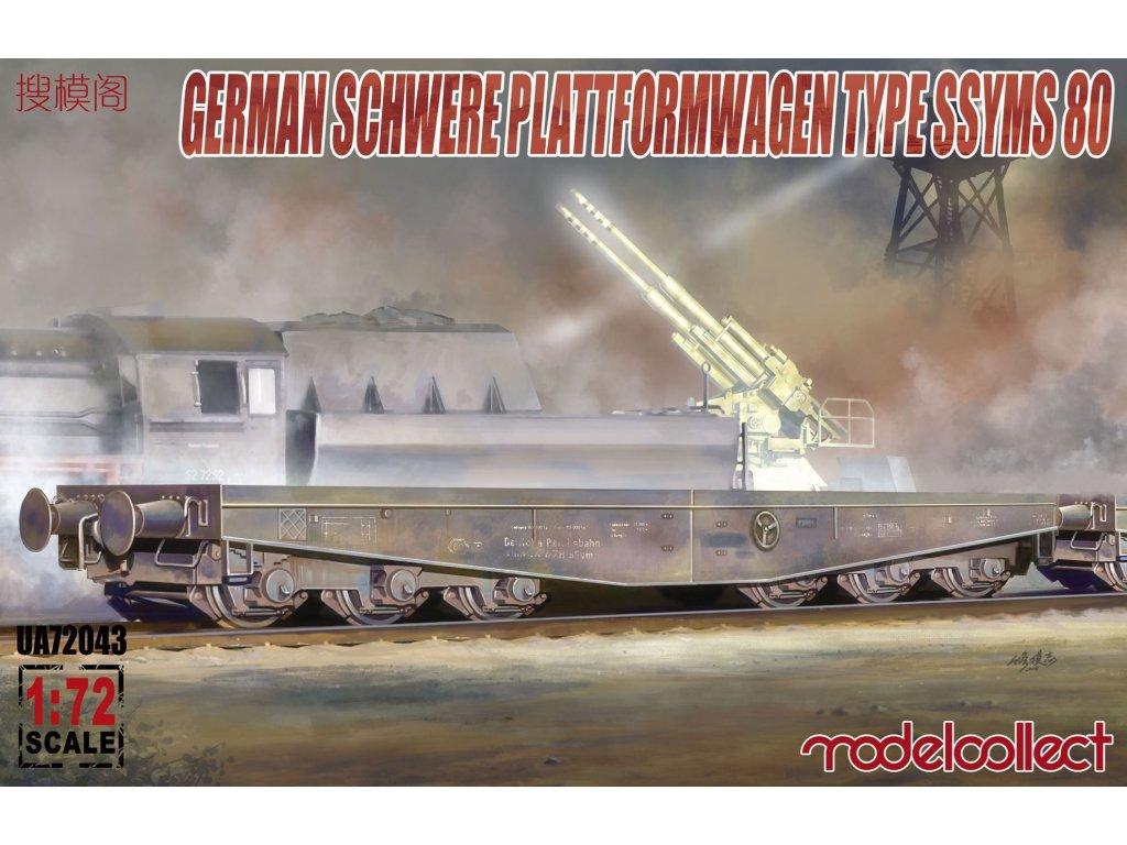 Germany Schwere Plattformwagen type ssyms 80 1:72